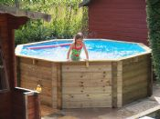 10ft x 48in Wooden Fun Octagonal Swimming Pool